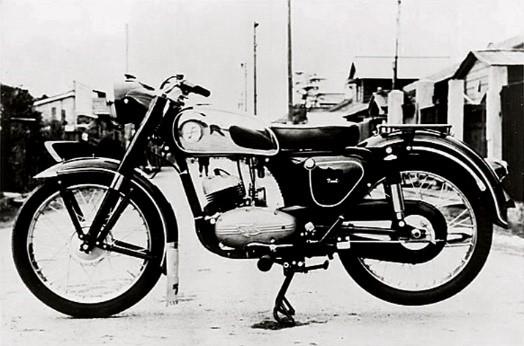 تاریخچه کاواساکی . موتورسیکلت Meihatsu، 1954